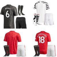 2021 Erwachsene Kit Männer Lingard Soccer Jerseys Pogba Rashford Martial de GEA Man Home Away 3RD UTD 20 21 Fußball-Hemd