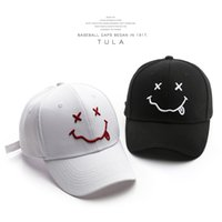 Hat Womens Fashion INS Big Smiling Face Embroidery Baseball Outdoor Sports Travel Casual Peaked Cap Spot No. 5