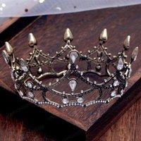 العروس خمر تاج المرأة مجوهرات الأسود الزفاف تياراس مهرجان كريستال تاج لسيدة الزفاف اكسسوارات للشعر الفتيات حفلة موسيقية