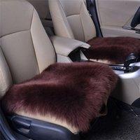Car Seat Cover Sheepskin Wool Cushion Chair Pad Covers