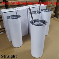 20oz DIY Sublimation Straight Skinny Tumbler Set Stainless S...