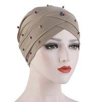 Muslim Head Cap For Women Solid Turban Bonnet Caps Fashion Inner Hijab Femme Beanie Wrap Hat Turbannets