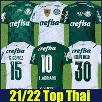 Palmeiras Futebol Jerseys 2021 2022 Home Away Breno Lopes Felipe Melo L.adriano Camisas de futebol Rony Ramires G.Veron G.Gomez Uniformes Camisa de Verdao Branco e Verde