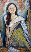 Girl Large Oil Painting On Canvas Home Decor Handcrafts  HD Print Wall Art Pictures Customization is acceptable 21091901
