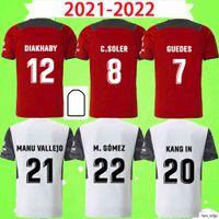 2021 2022 발렌시아 CF 축구 유니폼 C.Soller Gaya 21 22 Guedes Manu Vallejo Football Shirts Piccini M.gomez C.rivero Cheryshev Wass 성인