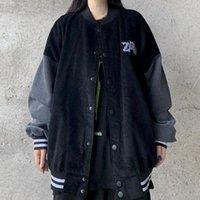 Men's Jackets Men Bomber Varsity Jacket Women 2021 Clothing Baseball Clothes Female Streetwear Harajuku Coat Plus Size Goth Japanese