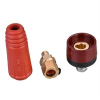 DKJ10-25 Red Series European Style Welding Cable Connector Male Plug and Panel Socket Quick Fitting Adapter