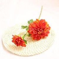 اكليل الزهور الزخرفية 10 قطعة / الوحدة محاكاة dahlia زهرة فرع الحرير الاصطناعي باقة من الزفاف الديكور المنازل عرض وهمية wre