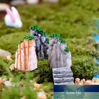Mini Rockery Boat Stakes Fai da te Resin Craft Fairy Garden Gnome Ornament Jardin Lago Ocean Miniature Decorazione Terrario Strumenti