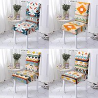Chair Covers Geometric Stripes Cover Office Dining Room Decor Dinner Table And Chairs Armchair Cushion