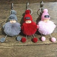 Schlüsselanhänger Weihnachtsschlaf Kette Haar Ball Schlafende Baby Plüsch Tasche Anhänger Puppe Maschine