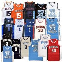 미국에서 배송 Michael MJ # 23 농구 유니폼 노스 캐롤라이나 타르 힐 퀴리 Irving 인디애나 주 상태 Allen Iverson Stephen Curry Carmelo Anthony Carter Sewn Jerseys