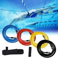 Pool & Accessories Adjustable Swimming Belt Elastic Swim For Training Safty Rope Tools Latex Tubes Bands