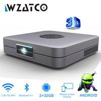 Wzatco D1 DLP 3D 300inch Home Cinema Supporto Full HD 1920x1080P, 32 GB Android 5G WiFi AC3 Video Video Proiettore Mini Proiettore