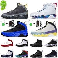 7-13 High Quality Jumpman 9s University Blue Basket Scarpe da basket 2021 Moda uomo Donna 9 Sneakers formatori simbolo oro cambia il mondo palestra rosso