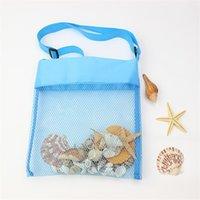 Summer Beach Storage Mesh Bag For Kids Children Shell Toys Net Organizer Tote Bag sand away Portable adjustable Cross Shoulder Bags 1912 V2