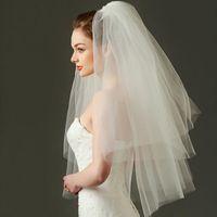 Gelin Veils Zarif Brida Peçe Dirsek Uzunluğu Tül Gelin Düğün Parti Aksesuarları 2021 Tarak