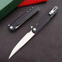 Top Quality 3810 Flipper Folding Knife 8Cr13Mov Satin Blade Nylon Plus Glass Fiber Handle EDC Pocket Knives With Retail Box Package