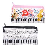 Sacos de lápis Música Nota Piano Teclado Caso Plástico Transparente Pena Saco Estudante Presente Presente Escola Escola Suprimentos