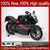 Carénage + couverture de réservoir pour BMW K1200 K 1200 s noir rouge 1200S K1200S 05 06 07 08 09 10 Bodywork 28NO.13 K-1200S 2005 2006 2007 2008 2009 2010 K1200-S 05-10 Body de moto