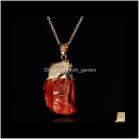 Halsketten Anhänger Schmuckwomen Farbe Naturstein Lady Mticolor Mädchen Anhänger Halskette Original Rock Kristall Verkauf Tropfen Lieferung 2021 5