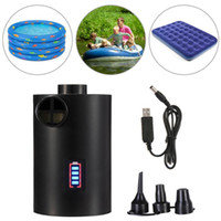 Pool & Accessories Electric Air Pump 4000mAh Rechargeable Compressor With Nozzle For Mattress Raft Bed Boat Inflatable Swimming Toys