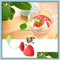 기타 Drinkware 주방, 식당 바 홈 Gardensf 도매 SIL Teabag 사랑스러운 스티 베르 스트레이너 필터 Infuser 레몬 스타일 티백 커피 T