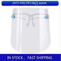 Mode réutilisable Protection complète du visage transparent pratique anti-poussière anti-poussière anti-poussière anti-poussière Nettoyage masque de protection