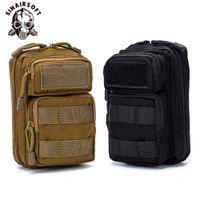 Bolsa tática de nylon Molle 1000d sacos de caça saco de cintura bolsa militar pacote de caça ao ar livre close three phone case