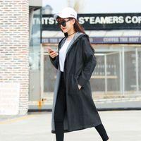 Мода Весенние Пальто Женщины Повседневная Джинсовая Требография Элегантные Свободные Большие Размер Женские Длинные Пальто Топы IOQRCJV T163 Женские