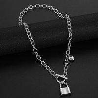 Designer Luxury Hip hop Retro Lock Necklace Pendant Jewelry Fashion Personalized Buckle Neck Chain Accessories