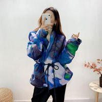Women's Jackets SuperAen Thickened 2021 Winter Print Bread Suit Loose Cotton Coat Short For Women