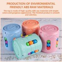 Brinquedo pode Cubo Top Magia Colorido Feijão Dedo Spinning alivia a ferramenta de descompressão do estresse para crianças e adultos