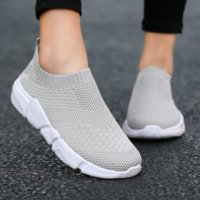 Women Flat Slip on Black Shoes Woman Lightweight Walking Sock Sneakers Summer Casual Chaussures Femme Tenis Loafers Plus Size 42