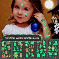 Halloween Christmas Luminous Temporary Tattoo Stickers Party Decoration Xmas Carnival Partys Cosplay Kids Decor