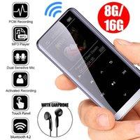 MP4 اللاعبين 4 في 1 بلوتوث مشغل mp3 ضياع موسيقى HIFI مع المزدوج PCM MIC 8GB 16GB FM راديو المعادن المحمولة