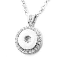جديد المفاجئة زر مجوهرات خمر الفضة مطلي المفاجئة قلادة قلادة قلادة مع سلاسل للنساء بنات تناسب 18 ملليمتر أزرار المفاجئة مجوهرات Y0301