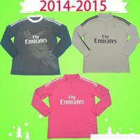 Jersey de football rétro rétro 2014 2014 2014 Full 14 15 Vintage Red Troisième chemise de football noir Uniforme dragon chinois Ronaldo Benzema