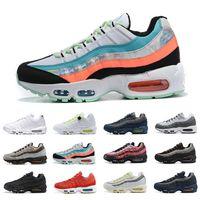nike Air Max 95 airmax 95 shoes Estilo Moda Laser fúcsia Almofada Running Shoes Homens Mulheres estilo cool Triplo Branco Amarelo Preto Trainers Red Casual Sports Sneakers 36-45
