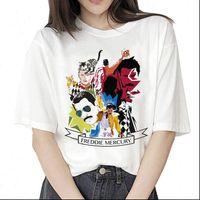 Freddie Womens Tops Mercury t shirt hip hop women fashion streetwear clothes vintage harajuku ulzzang Graphic 90s female