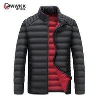 Big Size 2020 Bianco Duck Down Giacca invernale da uomo Ultralight Casual Touterwear Snow Caldo Fur Collo Collare Cappotto di marca Parka