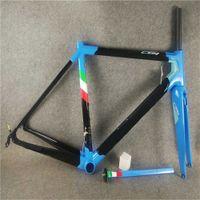 Azul C64 Road Bike Frame Lustroso Acabamento Carbono Quadro de Estrada de Bicicleta 48cm 50mm 52cm 54cm 56cm