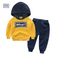 Kids Tracksuit Set Boys Girls Boutique Clothing Spring Fall Designer Casual Sports Clothes Children For 1T-10T Yellow Blue Green Hoodies Navy Grey Black Trousers
