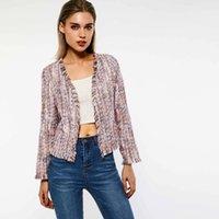 Women's Jackets Women Tweed Spring Thin Pink Sweet Simple Slim Fit Elegant Tassel Fashion Outerwear Female Autumn Chic Casual Coat