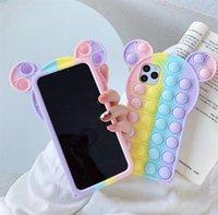 Toy Rainbow Mini Палец Давление Палец Версия для мобильного телефона Чехол XR / 8P / 12PRO Мыши Pioneer Декомпрессионный силиконовый защитный