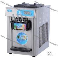 20L Pozen Yaourt Comptoir en acier inoxydable Commercial 110V 60Hz 220V 50Hz Electric 3 parfum de crème glacée à crème glacée
