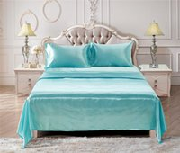 Sheets & Sets Luxury Satin Silk Flat Bed Sheet Set Single Queen King Size Bedspread Cover Linen Double Full Cases