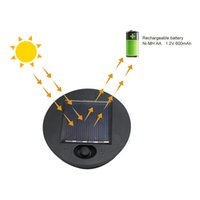 Garden supplies 2pcs pack Pathway Professional Solar Lamp Replacement Top Battery Box Led Outdoor Easy Install Accessories Super Bright
