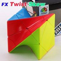 Fanxin ماجيك تويست skew مكعب 3x3x3 ملتوية ملتوية لغز 3x3 ziicube المهنية سرعة التعليمية الألغاز 3 * 3 اللعب لعبة