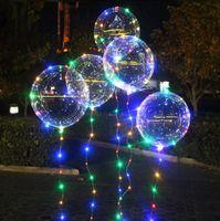20 inch Luminous Balloons with Light String Luminou Party Decoration LED Bobo Balloon for Wedding Festival